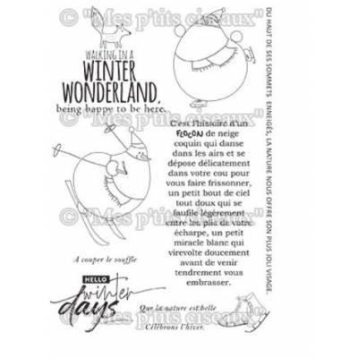 Tampons clear - Mes Ptits Ciseaux - Flocons - Winter Days