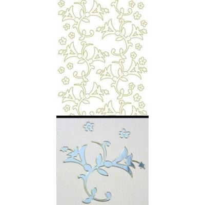Stickers Peel-off - Déco Fleurs clochettes - Miroir