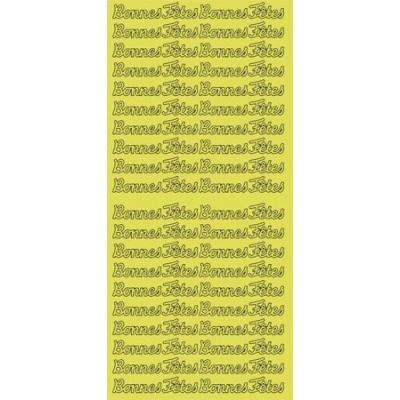 Stickers Peel-off - Bonnes Fêtes - Or (Geca)