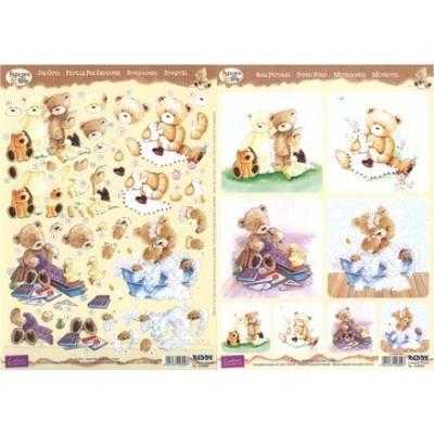Image Carterie 3D pré-découpée recto-verso - Popcorn The Bear 2