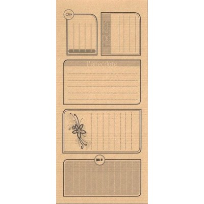 Etiquettes Journalings Notes - Kraft