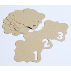 Ormolu - Negative Tags - Scalloped Numbers