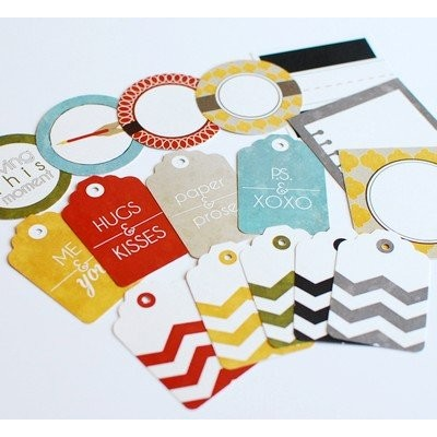 Ormolu - Mixed Tags - Line & Letter