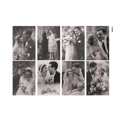 Feuille d'images Vintage - Wedding