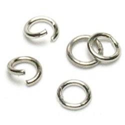 Mini anneaux argentés à écarter 5mm
