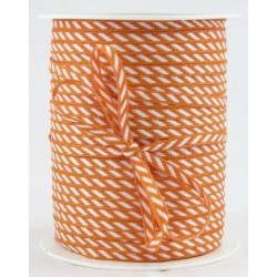 Ruban à rayures diagonales - Orange