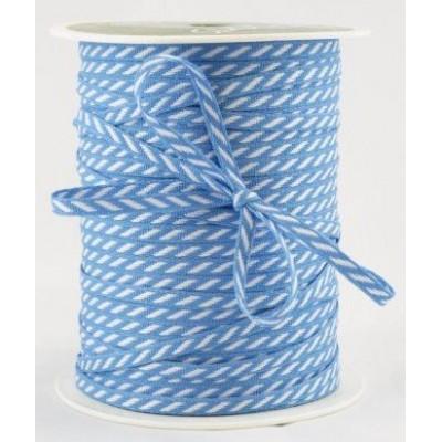 Ruban à rayures diagonales - Bleu clair