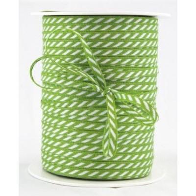 Ruban à rayures diagonales - Vert Perroquet