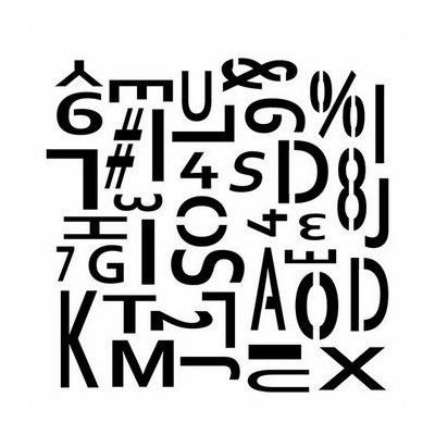 Pochoir 15x15 cm Mini Dina's Letter Chaos