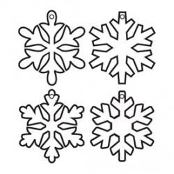 Keychain acrylique - Flocons