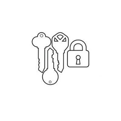 Keychain acrylique - Clés & Cadenas