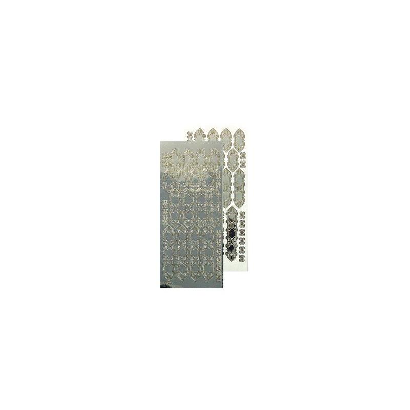 Stickers Peel-off - Fenêtres dentelées - Miroir argenté