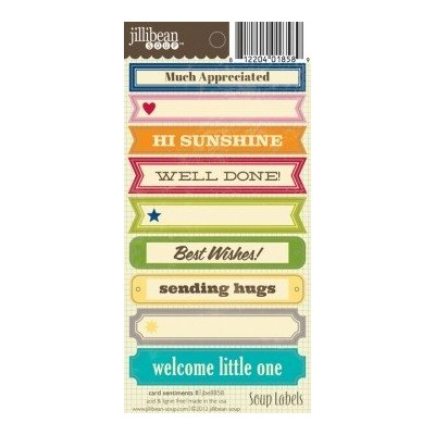 Stickers Soup labels - Card Sentiments II