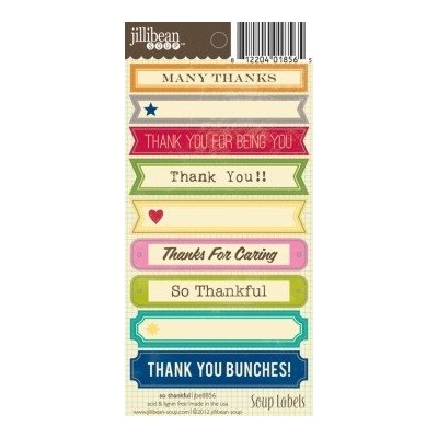 Stickers Soup labels - So Thankful