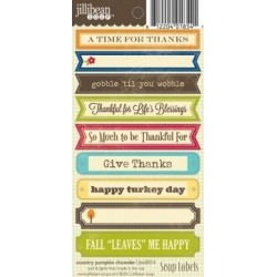 Stickers Soup labels - Country Pumpkin Chowder