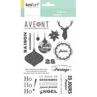 "Tampons clear KesiArt ""Avent"""