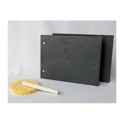 Support en ardoise - Rectangle 11x15 cm 2 trous largeur - 2 pc