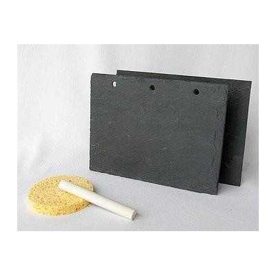 Support en ardoise - Rectangle 11x15 cm 3 trous longueur - 2 pc