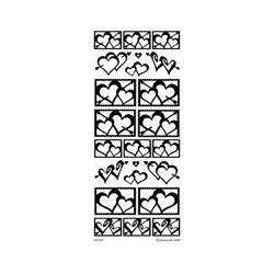 Stickers Peel-off - Coeurs enlacés - Argent