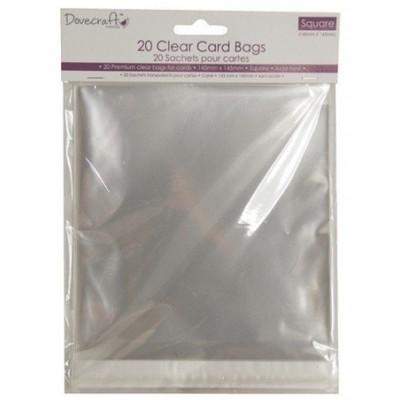 Sachets en plastique pour cartes 14.5x14.5 cm (20)