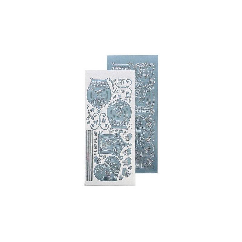 Stickers Peel-off - Cages d'oiseaux - Bleu Miroir