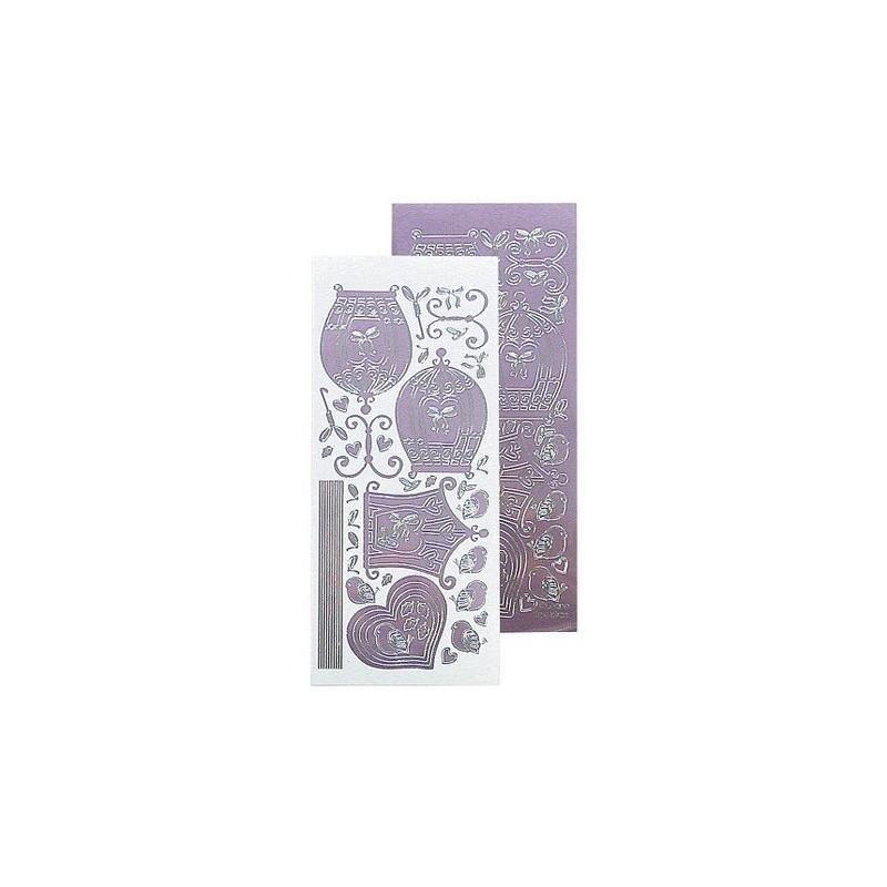 Stickers Peel-off - Cages d'oiseaux - Mauve Miroir