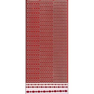 Stickers Peel-off - Bordure Ovales - Rouge