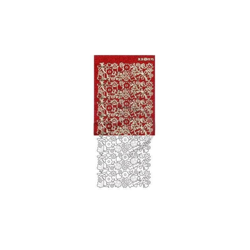 Stickers Peel-off - Fleurs & Coccinelle - Rouge Diamant