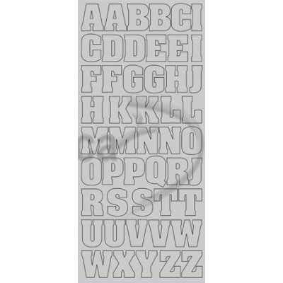 Stickers Peel-off - Alphabet Grand - Argent