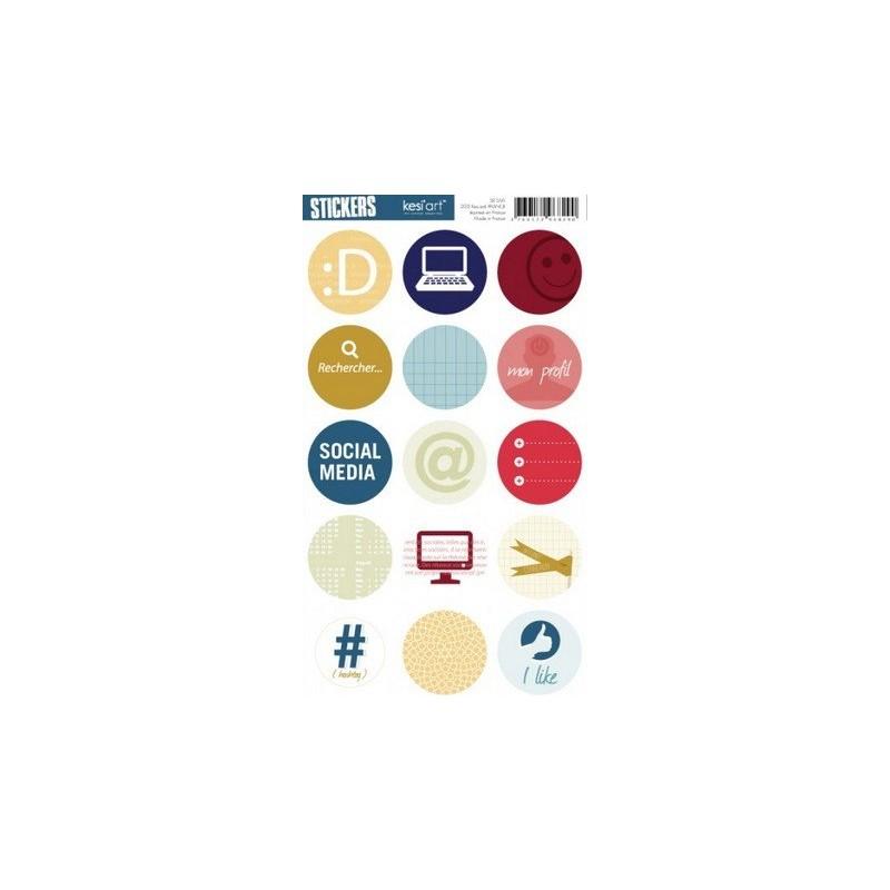 Stickers Ronds Kesi'Art - Social Media