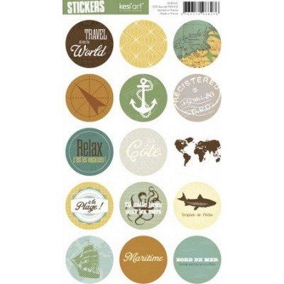 Stickers Ronds Kesi'Art - Bord de Mer