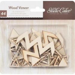 Wood Veneer - Triangles & Diamonds