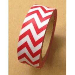 Masking Tape - Chevrons Zig zag - Rouge
