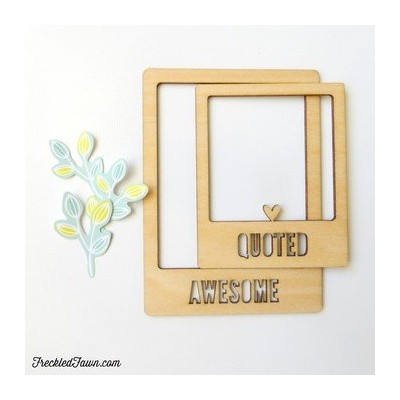 Wood Chips Frames Freckled Fawn - Awesome