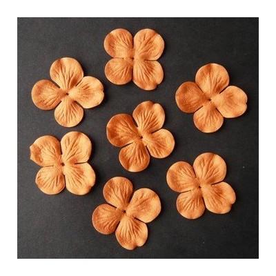 Fleurs Hydrangea 35 mm - Orange (50 pièces)