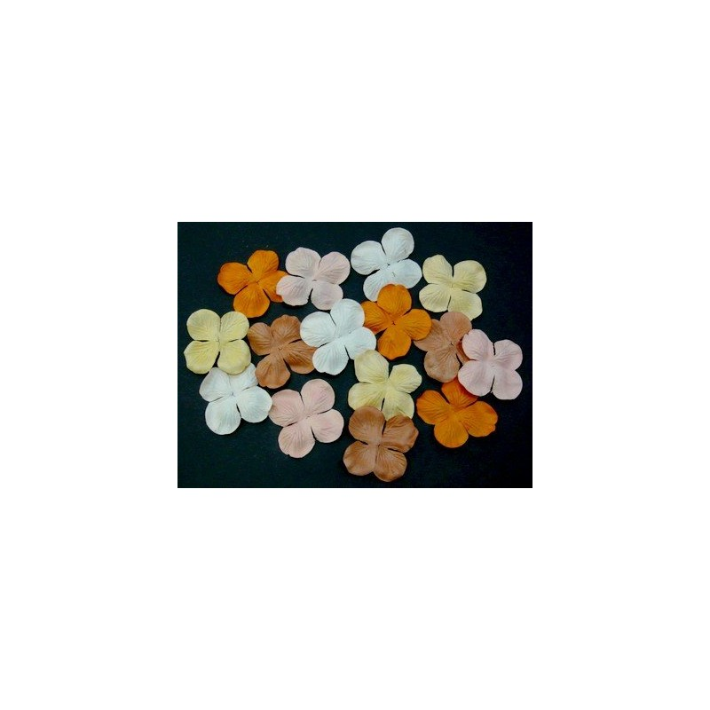 Fleurs Hydrangea 50 mm - Mix Orangés (100 pièces)