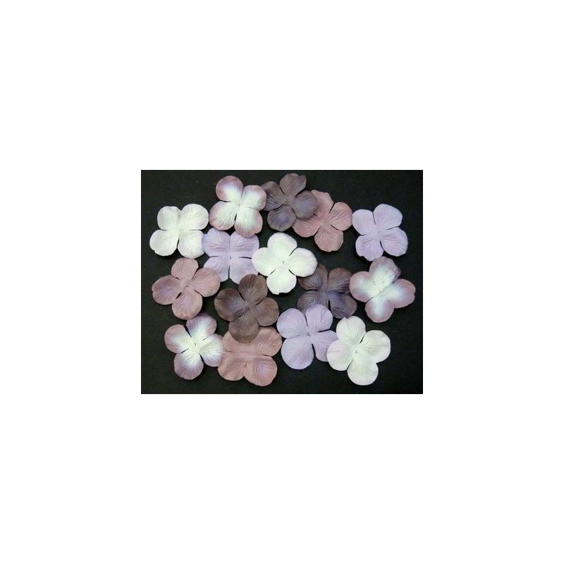 Fleurs Hydrangea 50 mm - Mix Violets (100 pièces)