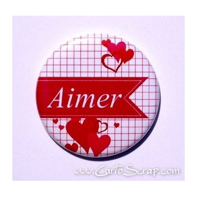Badge 38mm - Fanion Aimer