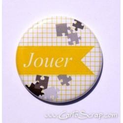Badge 38mm - Fanion Jouer