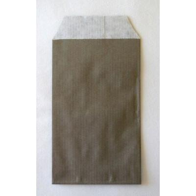 Pochettes / Sachets en kraft 7x13 cm (10) - Gris