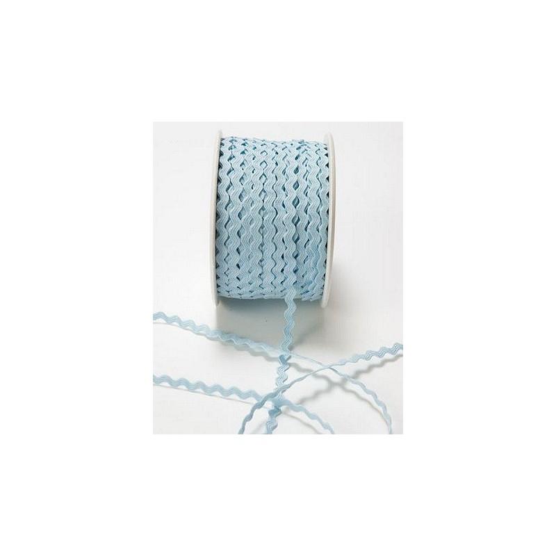 Mini ric-rac (croquet) bleu layette