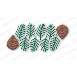 Die Impression Obsession - Pine Sprig Cluster