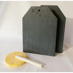 Support en ardoise - Etiquette américaine 11x15 cm 1 trou - 2 pi