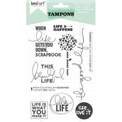 "Tampons clear KesiArt ""Hello Life"""