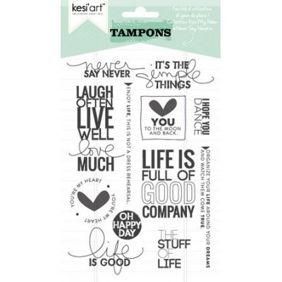 "Tampons clear KesiArt ""Never Say Never"""