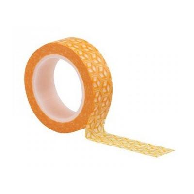 Washi Tape - Cubes Orange