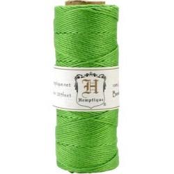 Ficelle de bambou - Vert Neon (bobine)