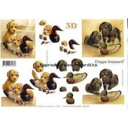 Image Carterie 3D - Chiots & Canards en bois