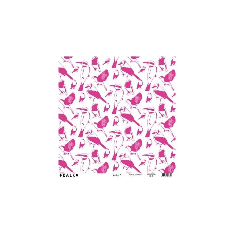 Papier KALK - Oiseau Fuschia