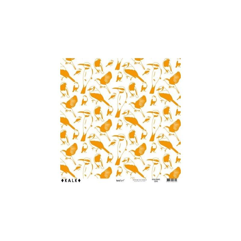 Papier KALK - Oiseau Orange